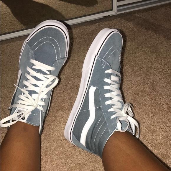 e68eef387a579b Vans Sk8-Hi Goblin Blue-Grey   White Skate Shoes. M 5ae1fcf345b30cd72485e019